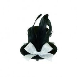 WB Шляпка заколка черная 10 см
