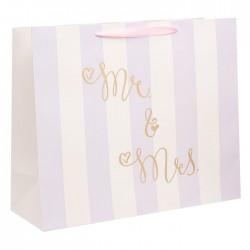 Пакет ламинированный Mr and Mrs, XL 49 × 40 × 19 см 2959517