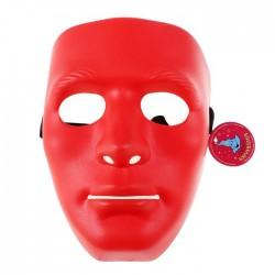 Карнавальная маска пластик лицо красная 19*16 см 536486
