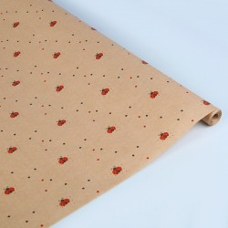 Упаковочная бумага Крафт 40гр (0,72 х 10 м) Божьи коровки, 1 шт