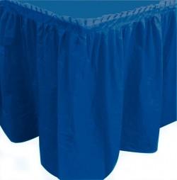 """S Юбка для стола """"Делюкс"""" Синяя 0,75*4 м / 1 шт. / (Колумбия)"""