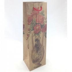 """Крафт-пакет подарочный """"Букет в вазе"""" / 36*11*10см (Китай)"""