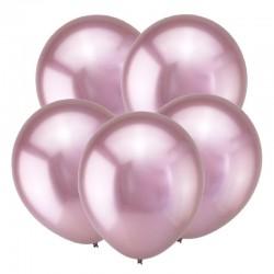 Т Метал 12 Зеркальные шары, Розовый / Mirror Pink / 50 шт. / (Турция)