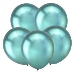 Т Метал 12 Зеркальные шары, Зеленый / Mirror Green / 50 шт. / (Турция)