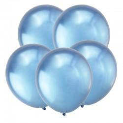 Т Метал 12 Зеркальные шары, Синий / Mirror Blue / 50 шт. / (Турция)