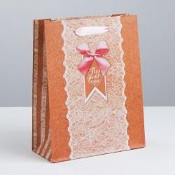 Пакет крафтовый вертикальный «Тебе нежной», ML 23 × 27 × 8 см 3680916