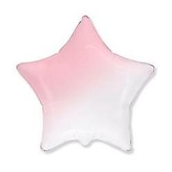 Шар Звезда Бело-Розовый градиент 46 см