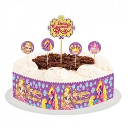 """Набор для украшения торта """"Праздник принцессы"""" 1455046"""