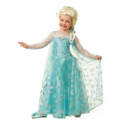 """Карнавальный костюм """"Эльза"""", текстиль, платье, парик, брошь р.32, р122 см 7070-122-64 2178901"""
