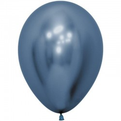 Шар (12''/30 см) Reflex, Зеркальный блеск, Синий (940), хром, 50 шт.