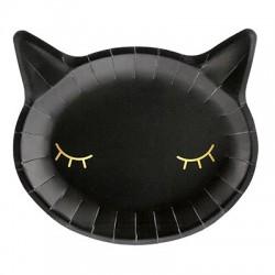 Тарелка бум Кошка черн 22см 6шт