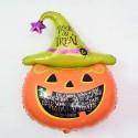 Шар (35''/89 см) Фигура, Тыква на Хэллоуин, Оранжевый, 1 шт.