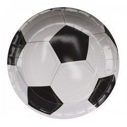 F Тарелки бумажные ламинированные Футбол 23см 6шт