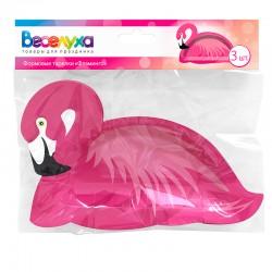"Формовые тарелки 24*16 см ""Фламинго"" / 3 шт. / (Китай)"
