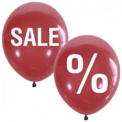 "MP 12""/30см Пастель (шелк) RED 2 ст. 1 цв. рис. Sale % 25шт шар латекс"