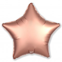Шар (19''/48 см) Звезда, Розовое Золото, Сатин, 1 шт.