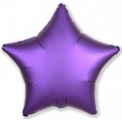 Шар (19''/48 см) Звезда, Фиолетовый, Сатин, 1 шт.
