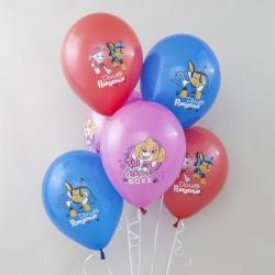 Воздушный шар (12''/30 см) Щенячий Патруль, С Днем Рождения!, Ассорти, пастель, 1 ст, 50 шт.
