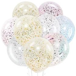 Набор из 9 шаров с конфетти 30 см