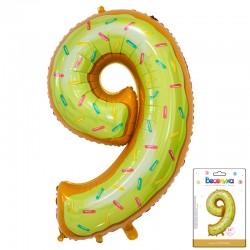 К 34 Цифра 9 Пончик в упаковке / Nine Donut / 1 шт / (Китай)