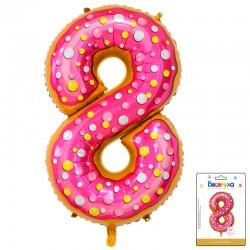 К 34 Цифра 8 Пончик в упаковке / Eight Donut / 1 шт / (Китай)