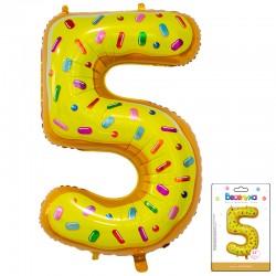 К 34 Цифра 5 Пончик в упаковке / Five Donut / 1 шт / (Китай)