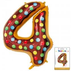 К 34 Цифра 4 Пончик в упаковке / Four Donut / 1 шт / (Китай)