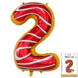 К 34 Цифра 2 Пончик в упаковке / Two Donut / 1 шт / (Китай)