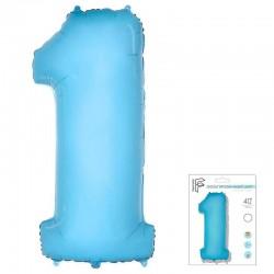 "И 40 Цифра ""1"" светло-голубой в упаковке / One / 1 шт / (Испания)"