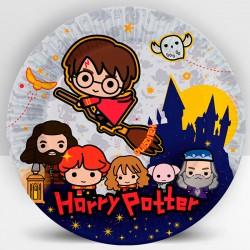Набор тарелок Гарри Поттер Чиби 18см 6шт