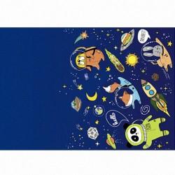 Y Скатерть полиэтиленовая Космос 137см X 181см
