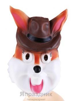 Маска мягкий пластик кролик в шляпке 30*20