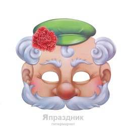 "Маска карнавальная ""Дедка"", 25, 2 х 23, 2 см"
