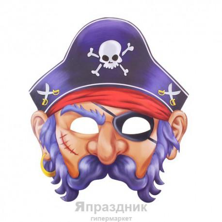 "Маска карнавальная ""Пират"", 29,2 х 24, 7 см"