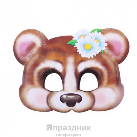 """Маска карнавальная """"Мишка-девочка"""", 24,2 х 17,6 см"""
