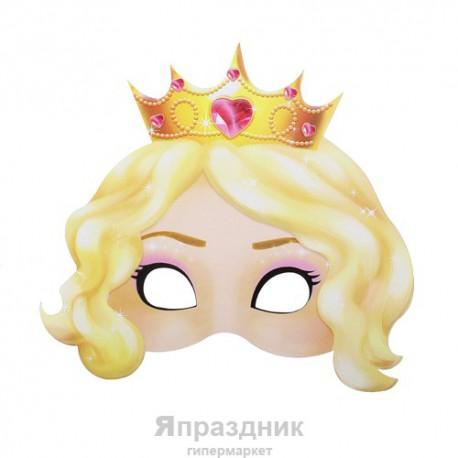 "Маска карнавальная ""Принцесса"", 23,7 х 21,9 см"