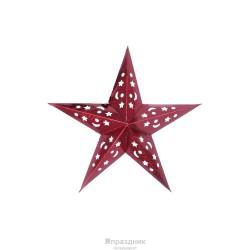 Звезда бумажная красная голографическая 110см