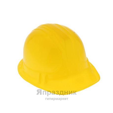 Карнавал каска пластик желтая 14*25*20