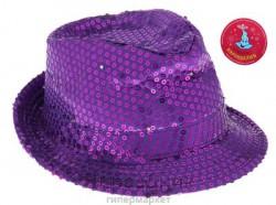 Карнавал шляпа фиолетовая световая 15*28*25