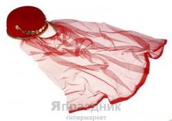 Карнавальная шляпа шахерезады длинная вуаль 17х17см