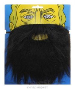 Карнавал борода черная 27*22
