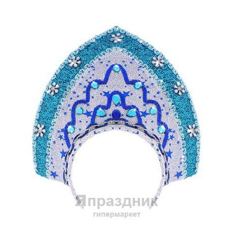 """Карнавальный кокошник """"Зимняя сказка"""""""