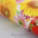Бумага упаковочная Цветы 52 х 76 см