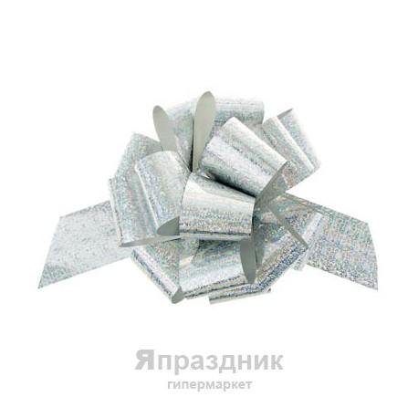 Бант-шар №5 голография, серебро