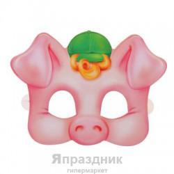 """Маска карнавальная """"Поросенок"""", 22,5 х 16,6 см"""