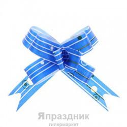Бант-бабочка №1,2 капли дождя на синем
