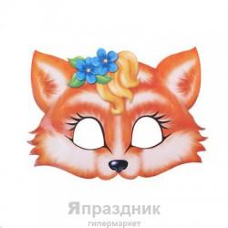 "Маска карнавальная ""Лиса"", 24,6 х 17 см"