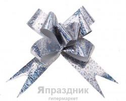 Бант-бабочка №3 голография, серебро