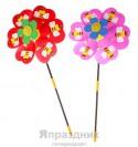 Ветерок цветок на лепестках пчелка два цвета 47*25