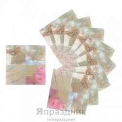 Салфетки бумажные Свадьба 33см 20шт